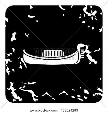 Gondola icon. Grunge illustration of gondola vector icon for web