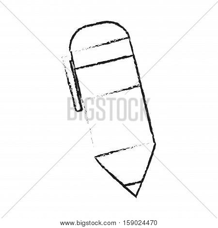 Pen icon. Tool write office object and instrument theme. Isolated design. Vector illustration
