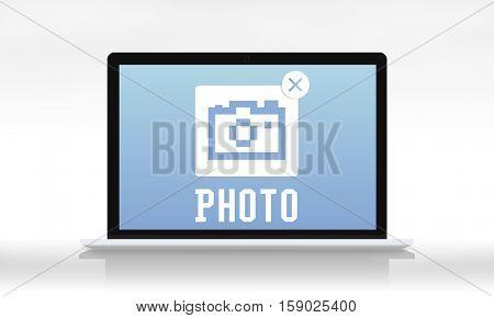 Capture Photographer Camera Icon Graphic Concept