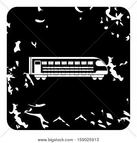 Train locomotive icon. Grunge illustration of train locomotive vector icon for web