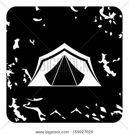 Tent icon. Grunge illustration of tent vector icon for web