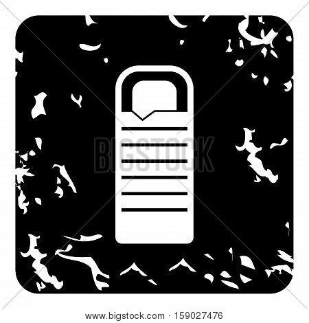 Sleeping bag icon. Grunge illustration of sleeping bag vector icon for web
