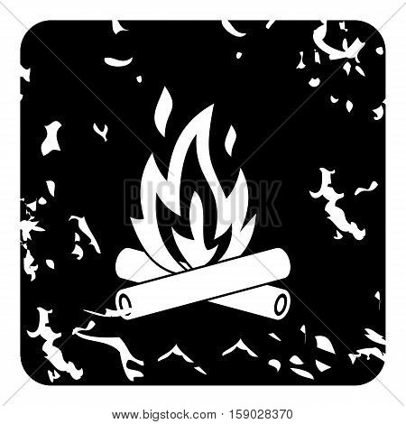 Campfire icon. Grunge illustration of campfire vector icon for web