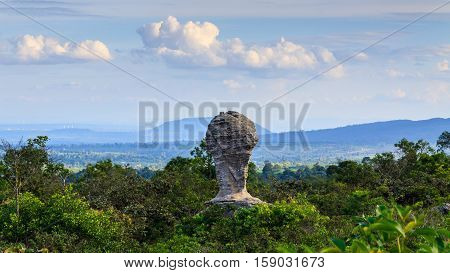 The Stone in Forest  , Chaiyaphum province of Thailand