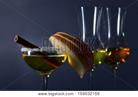 Sweet Liquor With Apple And Cinnamon