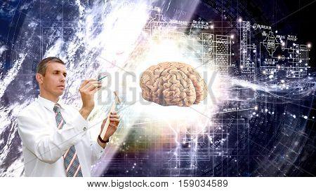 Engineering technologies in  scientific studies of the cosmic mind.science