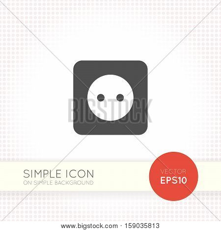 Socket flat style Icon. Rosette symbol for your web design, logo, UI. Electrical symbol. Eps with simple black socket object isolated on white background.