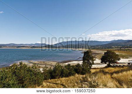 Batak  lake in Bulgaria resort in autumn time