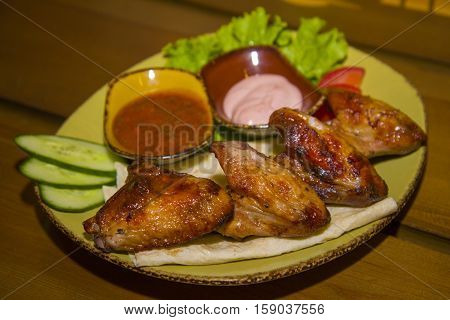 Roasted Partridge Posted On Fresh Armenian Bread.