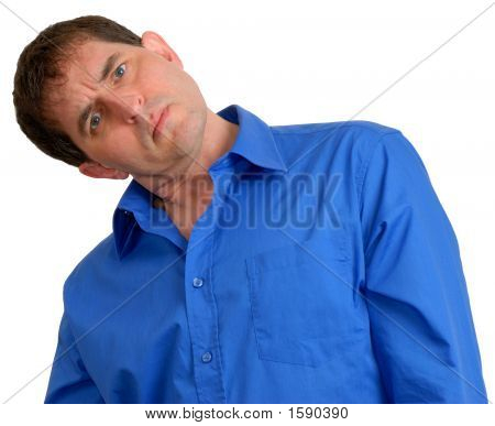 Man In Blue Dress Shirt 12