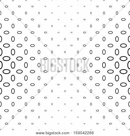 Black and white abstract ellipse ring pattern background