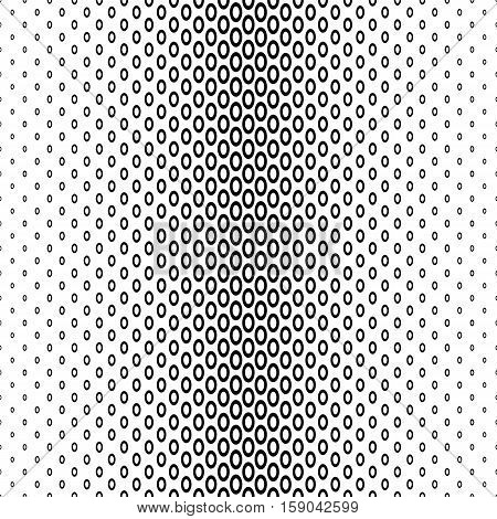 Abstract monochrome geometric ellipse ring pattern background
