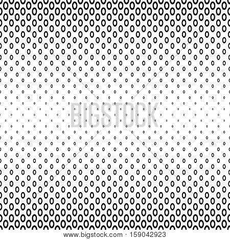 Abstract monochrome ellipse ring pattern background design