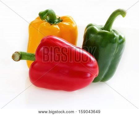 Sweet pepper mix color with red green and yellow.