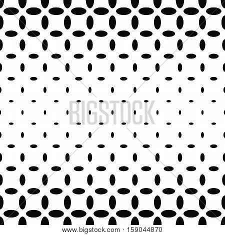 Abstract black and white ellipse pattern background
