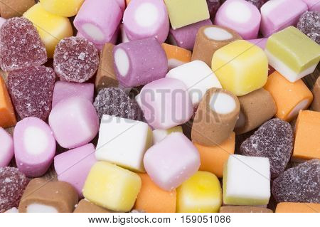 Background Texture Of Colorful Chewy Candy