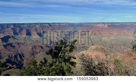 Rock formations in the Grand Canyon National Park in the United States of America