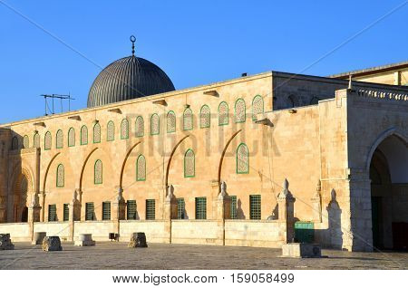 JERUSALEM ISRAEL 26 10 16:  Al-Aqsa Mosque, also known as Al-Aqsa and Bayt al-Muqaddas, is the third holiest site in Sunni Islam and is located in the Old City of Jerusalem.