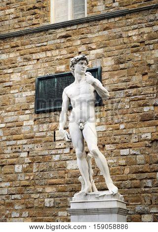 David Michelangelo sculpture in Florence, Toscana. Italy.