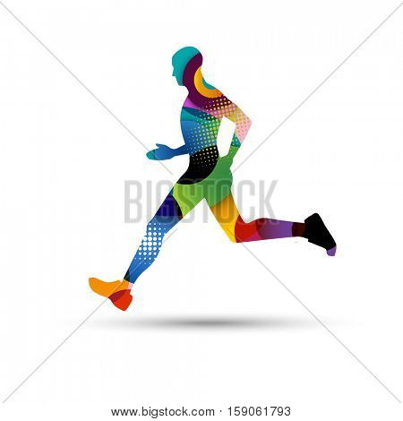Abstract runner, eps10 vector