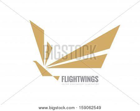 Flight wings - vector business logo template concept illustration. Abstract bird creative sign. Dove symbol. Design element.