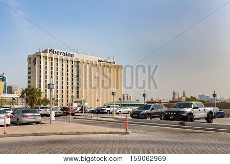 MANAMA, BAHRAIN - NOVEMBER 23, 2016: The iconic Sheraton Hotel in the heart of the city.