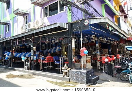 Viiew Of Walking Street In Pattaya.thailand