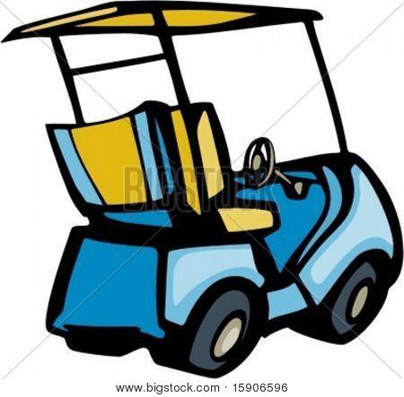 Golf cart. Pantone Colors. Very clean vectors.