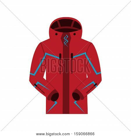 Sports jacket warm zipper model. Suit sports consisting of jacket. Fashion sport clothing design sports jacket. Winter warm sports jacket apparel coat vector illustration.