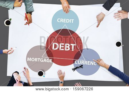 Debt Mortgage Credit Currency Financial Transaction Concept