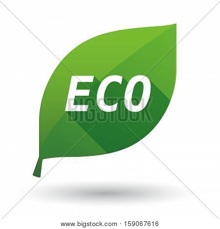 Isolated Leaf Icon With    The Text Eco