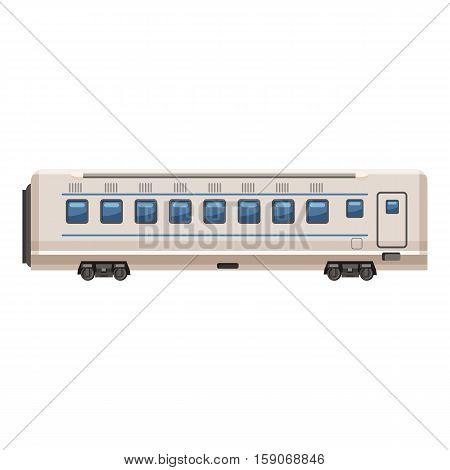 Passenger wagon icon. Cartoon illustration of passenger wagon vector icon for web design