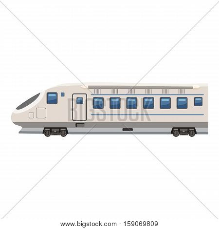 Modern high speed train icon. Cartoon illustration of high speed train vector icon for web design