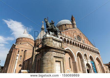 PADUA, ITALY - MAY 3, 2016: Basilica di Sant'Antonio da Padova in Padua Italy