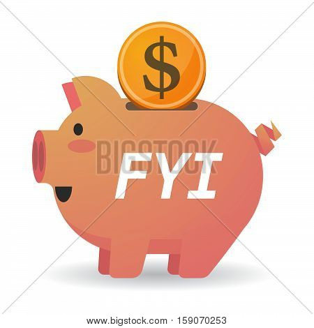 Isolated Piggy Bank With    The Text Fyi