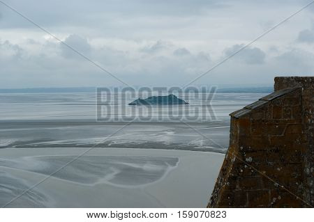 View From Mont Saint-michel, Normandy, France--one Of The Most Visited Tourist Sites In France. Desi