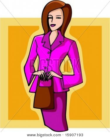 Businesswoman holding a handbag. Check my portfolio for many more images of this series.