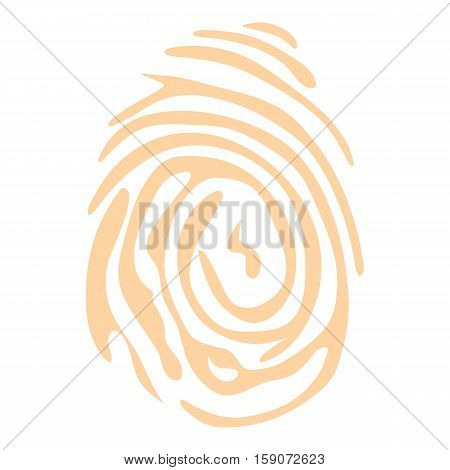 Fingerprint icon. Flat illustration of fingerprint vector icon for web design