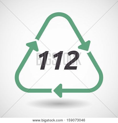 Isolated Recycle Sign With    The Text 112