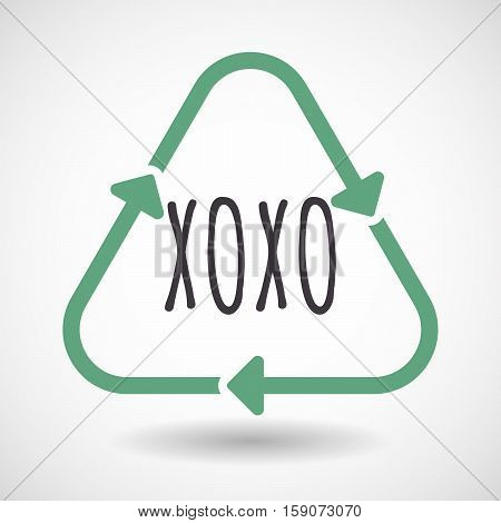 Isolated Recycle Sign With    The Text Xoxo