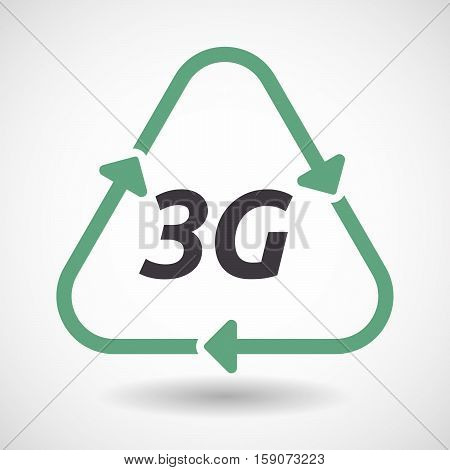 Isolated Recycle Sign With    The Text 3G
