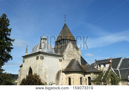 Chateau Azay-le-Rideau (was built from 1515 to 1527) Loire France poster
