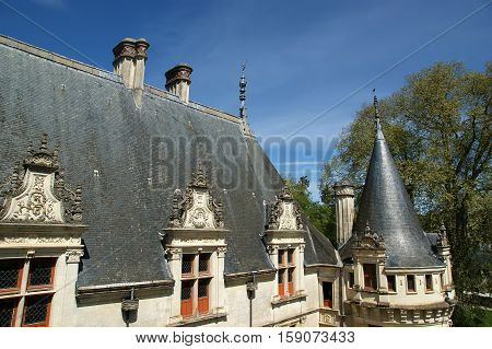 Chateau Azay-le-rideau (was Built From 1515 To 1527), Loire, France