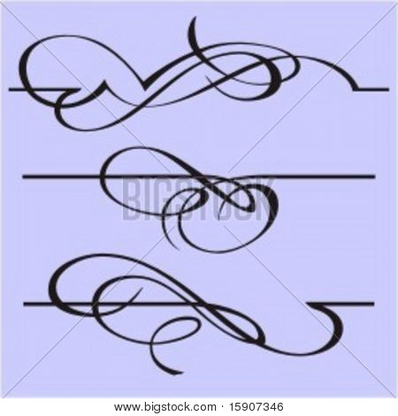 Exquisite Design Elements 3 (Vector) Very clean and exquisite design elements of ornamental type.  Very clean vectors!