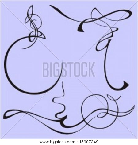 Exquisite Design Elements 6 (Vector) Very clean and exquisite design elements of ornamental type.  Very clean vectors!