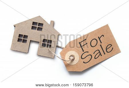 Property real estate for sale concept over a white background
