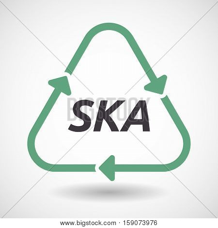 Isolated Recycle Sign With    The Text Ska