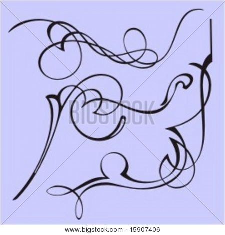 Exquisite Design Elements 29 (Vector) Very clean and exquisite design elements of ornamental type.  Very clean vectors!