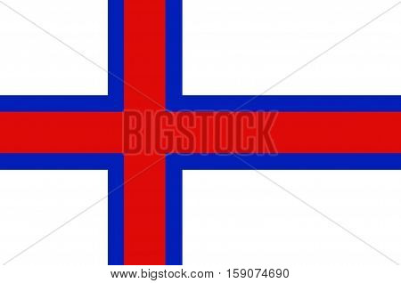 Flag of Faroe Islands is an island country of Denmark Kingdom