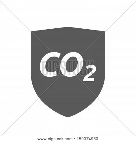 Isolated Shield With    The Text Co2